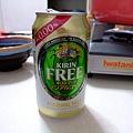 KIRIN新出的偽啤酒飲料 強調0.00%不含酒精 開車的人也可以喝喔!! 熱賣到翻掉