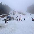 初心者滑雪道 根本看不到最高點在哪裡阿 超恐怖
