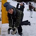 做雪人是南國小孩的夢想阿!!