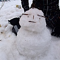 我們的雪人一附大叔臉 哈哈哈