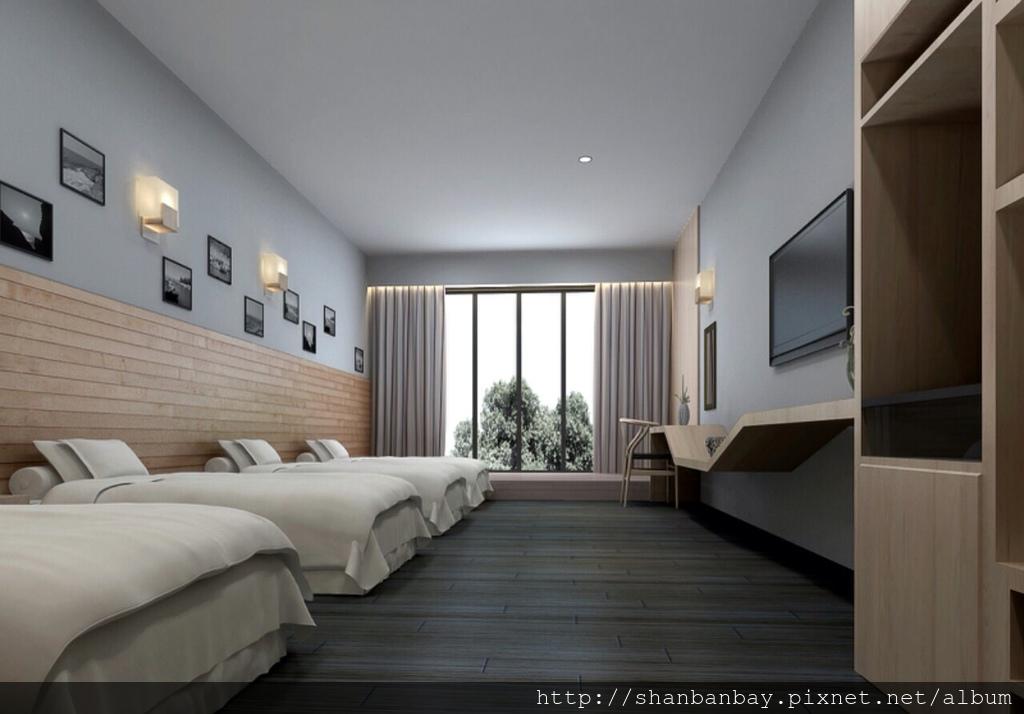 杉板灣新增四小床標準客房