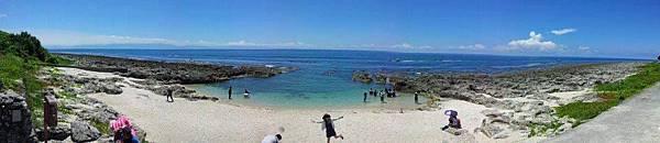 小琉球厚石魚澳海灘環景