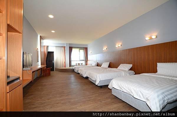 小琉球四小床四人房型,杉板灣相埔館二館標準四人房
