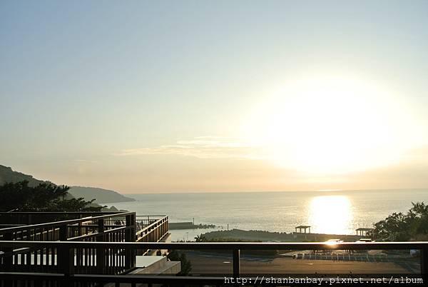 小琉球杉板灣夕照很美