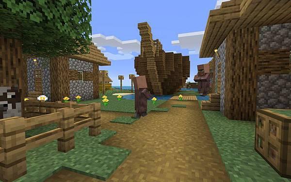 Sunken Ship in the Village Minecraft Seed