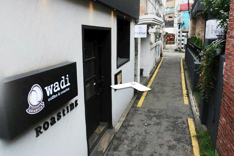 INFINITE南優鉉instagram上水弘大CAFE WADI地圖