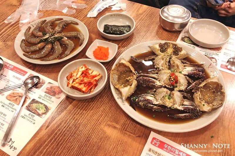 首爾弘大弘益醬蟹홍익게장醬蝦無限花蟹鍋10.JPG