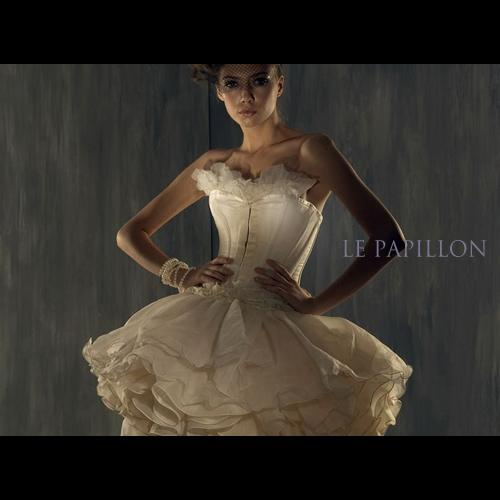 【 LE PAPILLON 】雪紡芭蕾公主馬甲小禮服(米白) 99800.jpg