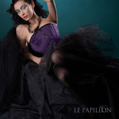 【 LE PAPILLON 】極簡平口絲緞英式馬甲(瀲艷紫) 46000.jpg