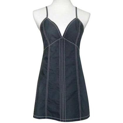 【DKNY】俏麗佳人藍黑色純棉小洋裝 3980.jpg