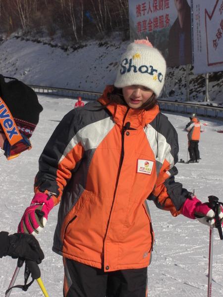已經出動最防寒的專門滑雪衣了