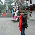 雷峰塔附近的..是許仙和白娘子嗎