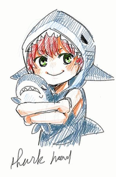 鯊魚頭 手機繪