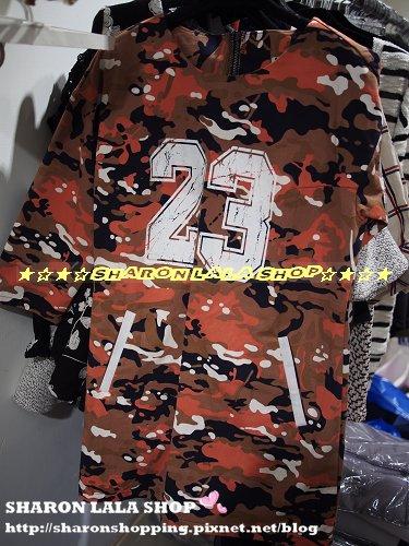 297.韓迷彩23口袋長上衣 $1360 綠 橘