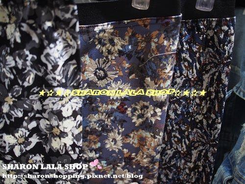 329.韓鬆緊腰內搭褲 $880 黑 藍紫 水彩花