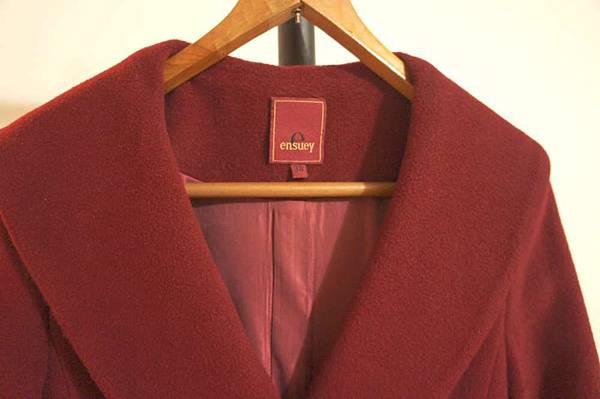(02) ensury 長版大衣附腰帶 原價3000多 賣820元