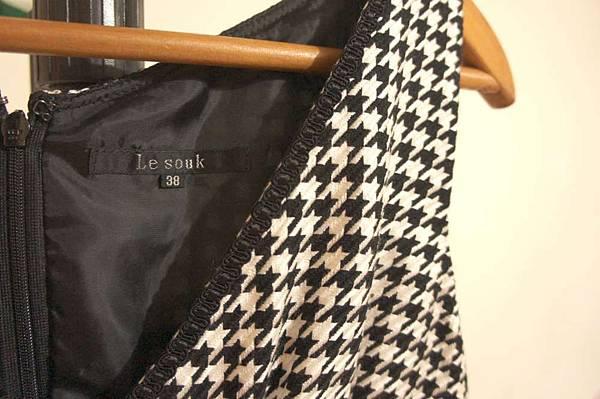 (06) 全新Le souk千鳥格毛料背心裙 原價10000多 賣2200元