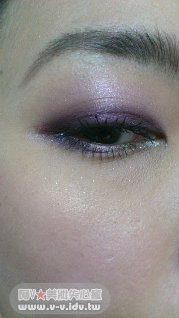 紫色妝手機照