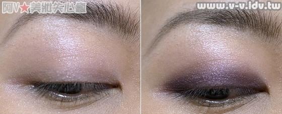 紫色眼影第一步