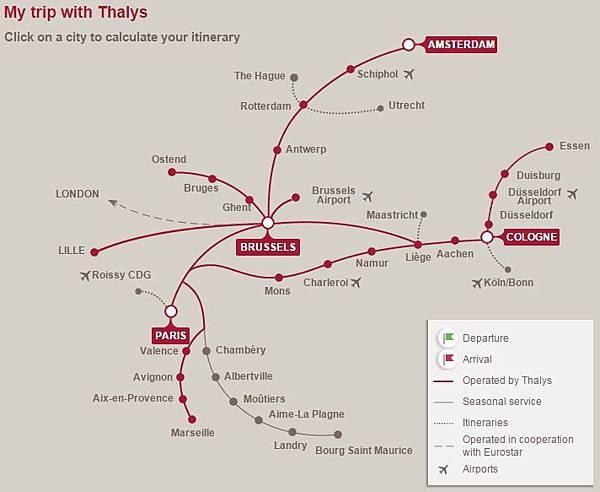 Thalys Map