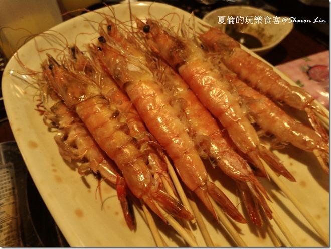燒烤類-鹽烤蝦串