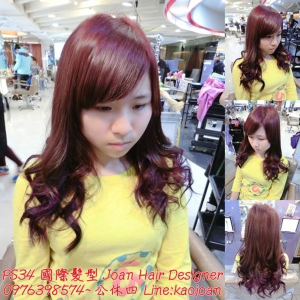 台北西門町染髮推薦 女生髮型 繽紛馬卡龍挑染 PS25國際髮型Joan
