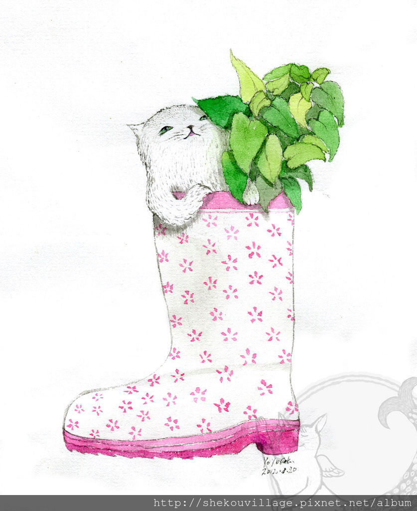 s2012_08_20 Flower rainy boot