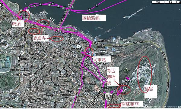 Bosphros Cruises Map