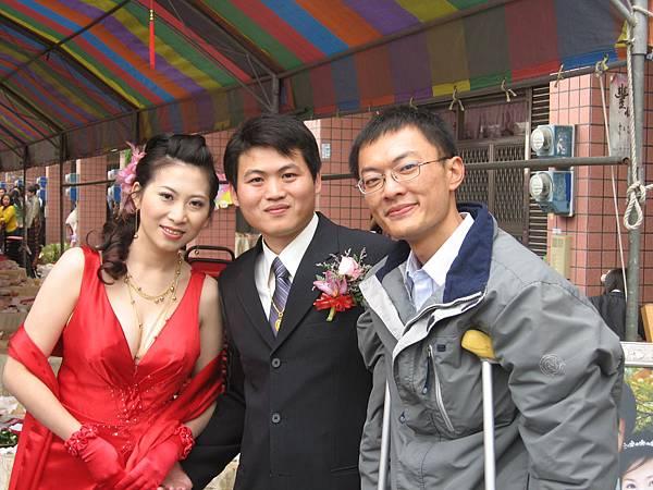 與新郎新娘合照