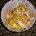 雞蓉炒玉米(自己的新發明)