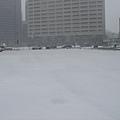積雪的停車場