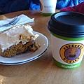 咖啡與南瓜蛋糕