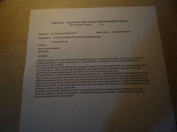 9393年4月19日寶路事件後,美國FDA公佈寶路寵物食品有問題,那農委會難道不知道?還有是在幫寶路隱瞞事實?