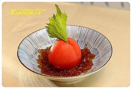 Tomato with dressing jelly
