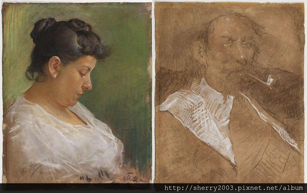 母親肖像和父親肖像(Retrat de la Mare de l'Artista y El Padre Artistra)(1896).jpg