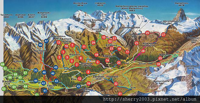 Zermatt summer hiking