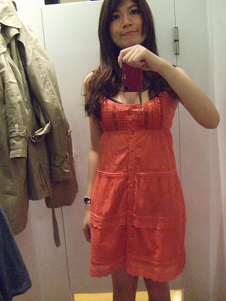 沒買的Mango桃紅色裙子..好看嗎?