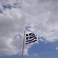 到希臘一定要要有希臘國旗的呀~