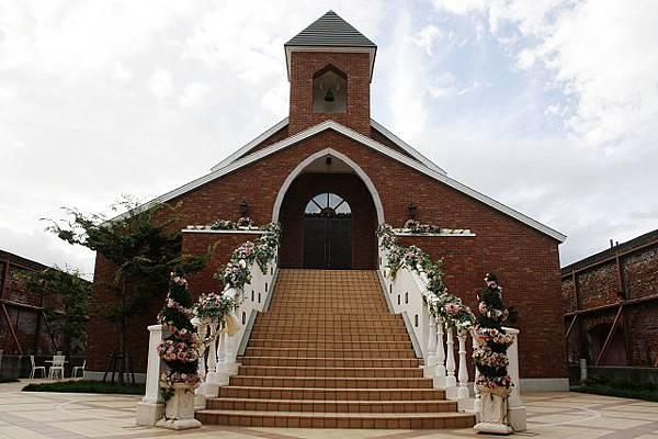 金森倉庫旁的結婚教堂,很漂亮喔!