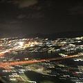 降落前的福岡夜景