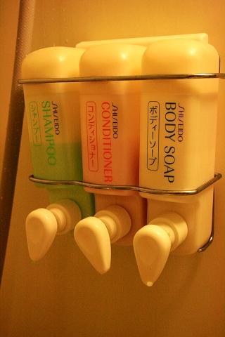 浴室的沐浴品