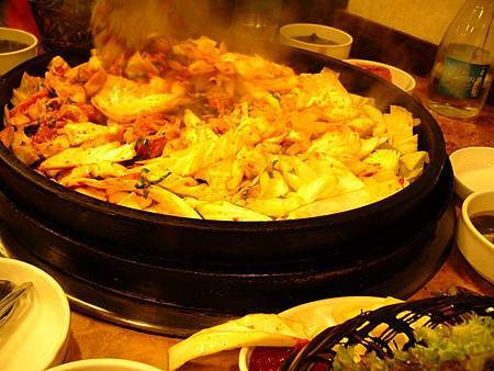 大鋼盤醃雞炒烤+金玉炒飯