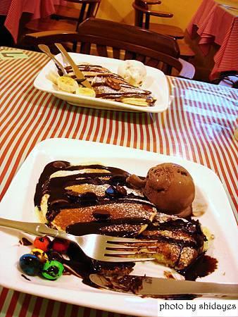 巧克力鬆餅/香蕉鬆餅