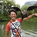魚鷹在手上
