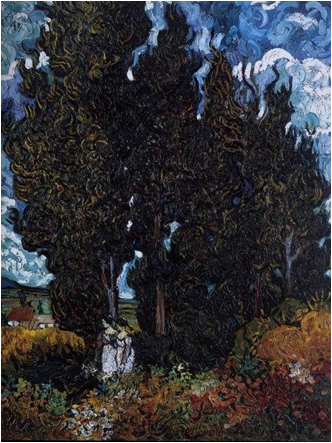 柏樹與兩個人物