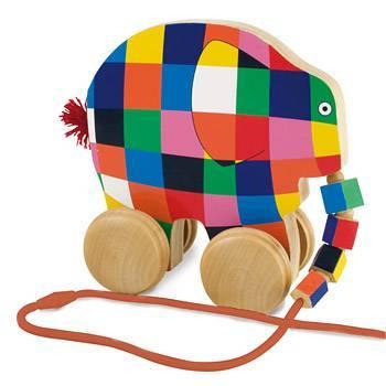 艾瑪大象木製拉車