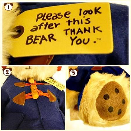 復古柏靈頓熊(附盒)細部圖
