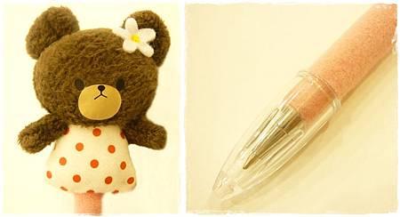 小熊傑琪玩偶原子筆