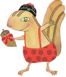 花栗鼠過年新裝