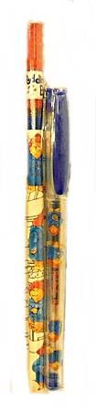 柏靈頓熊的鉛筆+藍色原子筆